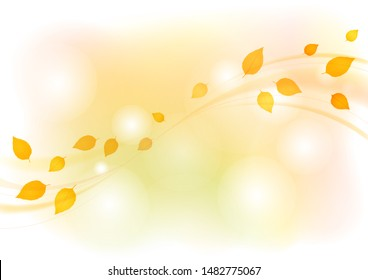 Leaves dancing in the autumn wind
