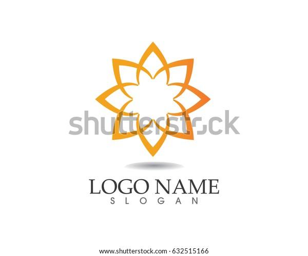 Leaves flower logo nature spa