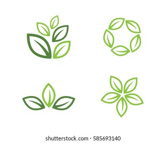 leaves  green logo