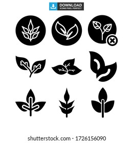 leaves icon or logo isolated sign symbol vector illustration - Collection of high quality black style vector icons