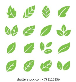 Leaves icon set.