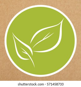 Leaves icon, vector sign