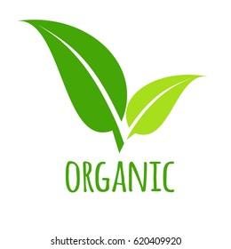 Leaves logo, organic, vector
