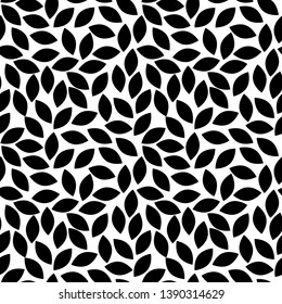 Leaves Pattern. Floral seamless pattern for wrapping, fabric, paper and wallpaper. Endless Background