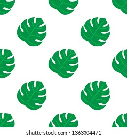 Leaves Pettern Design vector. Seamless tropical leaves pattern