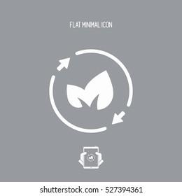 Leaves - renewable concept icon