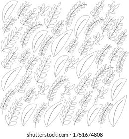 Leaves seamless pattern. Endless vector tiles art. Vector illustration.