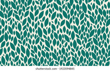 Leaves Seamless Pattern. Green Leaves Pattern for Wedding, Anniversary, Birthday and Party. Floral Modern Abstract Print Design. Vector EPS 10