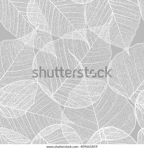 Leaves seamless pattern. Vector, EPS 10.