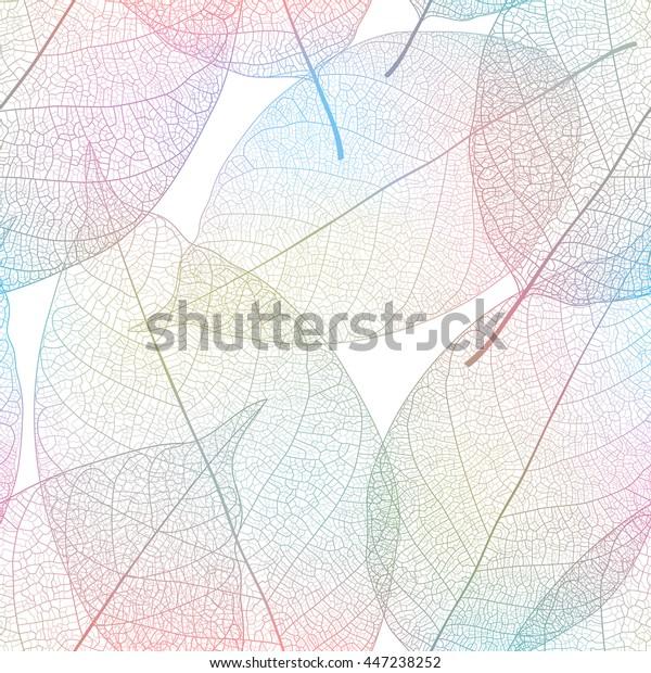 Leaves seamless pattern. Vector illustration.