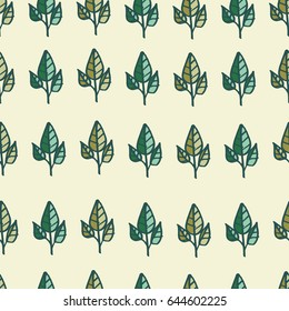 Leaves. Seamless vector pattern.