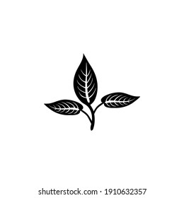 Leaves Silhouette. Isolated. Vector Illustration