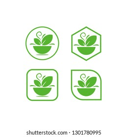leaves symbol icon set vector illustration concept