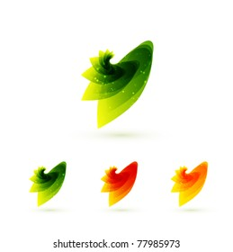 Leaves. Vector abstract icons