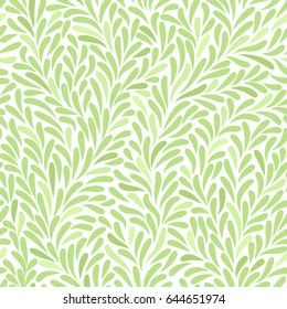 leaves vector seamless pattern