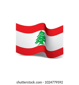 Lebanese flag, vector illustration on a white background