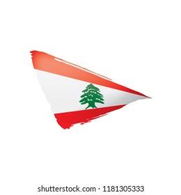 Lebanese flag, vector illustration on a white background.