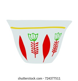 Lebanese, Turkish Coffee Cup - Vector Illustration