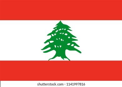 Lebanon Country Flag Illustration Design