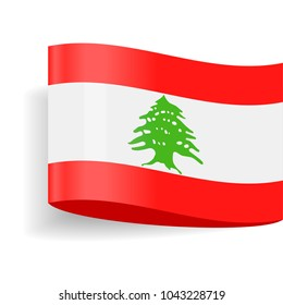Lebanon Flag Vector Icon - Illustration