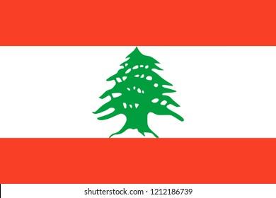 Lebanon Flag Vector Illustration