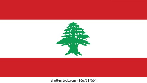 Lebanon Flag Vector - Official Lebanon Flag With Original Color and Size Proportion
