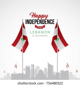 Lebanon Independence day vector illustration