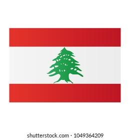 Lebanon national flag on white background texture. Vector illustration state symbol.