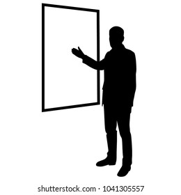 Lecturer, teacher, silhouette