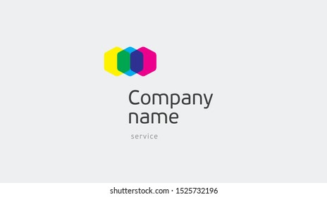Led lamp company logo vector template. Rgb colors. Logotype concept light icon.