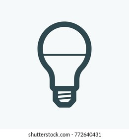 LED lamp isolated icon, LED bulb linear vector icon