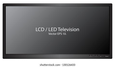 LED / LCD TV Vector Illustration, EPS 10.