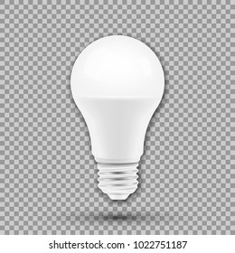 LED light bulb isolated on transparent background. Vector illustration. Eps 10.