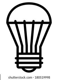 LED light bulb vector icon