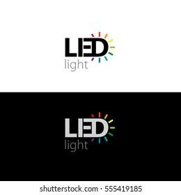 LED logo, vector illustration.