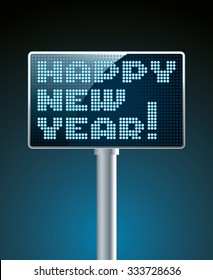 LED Screen electronic scoreboard with new year