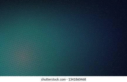 LED texture screen, digital video wall background. Vector blue LED TV display dot mesh gradient pattern