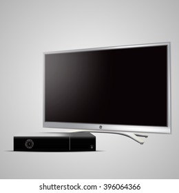 Led tv and satellite receiver.
