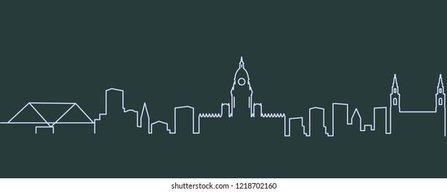 Leeds Single Line Skyline