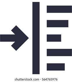 Left Align Vector Icon