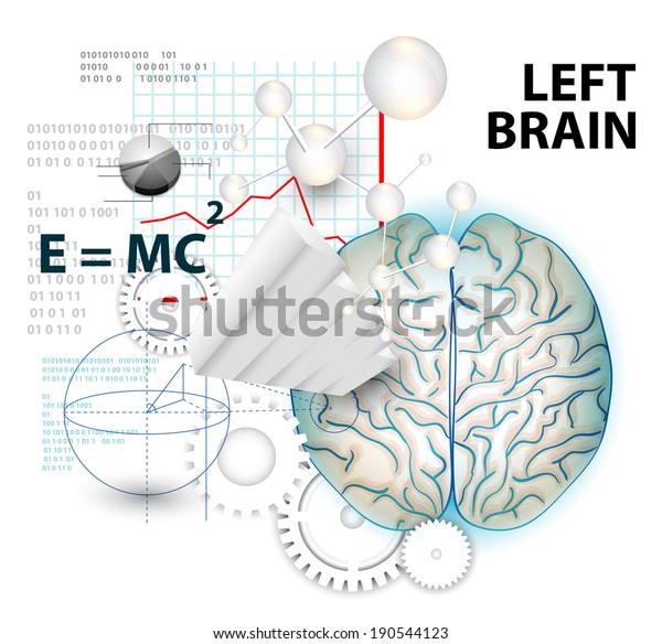 Left Brain Functions Stock Vector (Royalty Free) 190544123