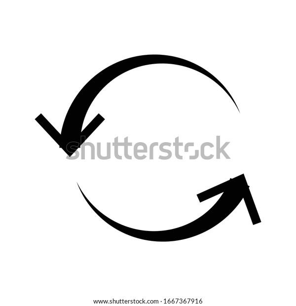 Left circular, circle arrow. Counter-clockwise rotate, twirl, twist or spin, vortex, whirlpool concept arrow. Radial pointer, cursor