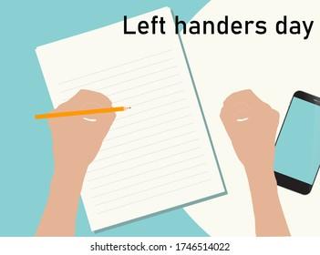 Left handers international day - august 13th