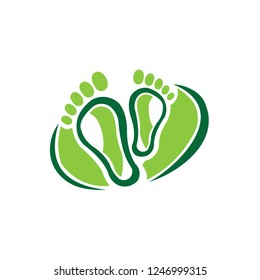 Left and right foot soles contour illustration for biomechanics, footwear, shoe concepts, medical, health, massage, spa, acupuncture centers. Realistic cartoon style contour. Vector inspiration logo f