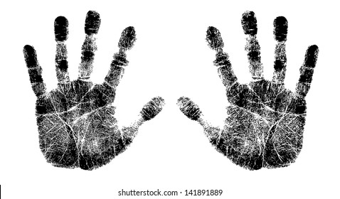 left and right hand print