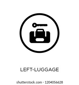 Left-luggage icon. Left-luggage symbol design from Hotel collection. Simple element vector illustration on white background.