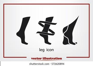 Leg icon vector illustration.
