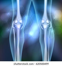 Leg joint anatomy 3d illustration beautiful abstract background