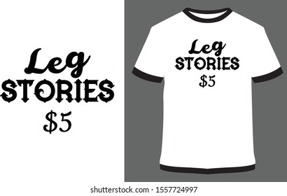 leg stories - vector design illustration, it can use for label, logo, sign, sticker for printing for the family t-shirt.