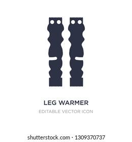 leg warmer icon on white background. Simple element illustration from Fashion concept. leg warmer icon symbol design.